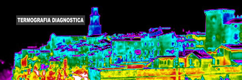 Immagine termografica di Pitigliano